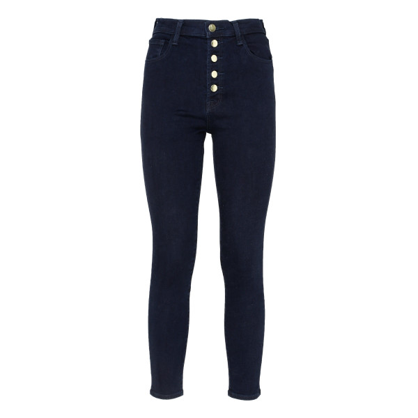 Blue High-Rise Cropped Skinny Jeans