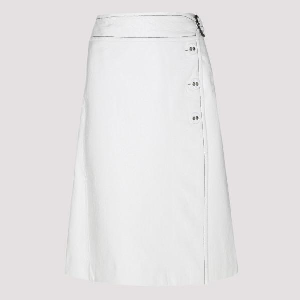 White Goma wrap skirt