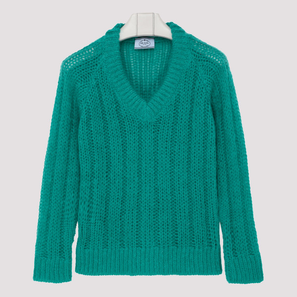 Green Mohair wool sweater