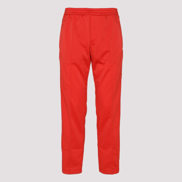 Red track pants with side band