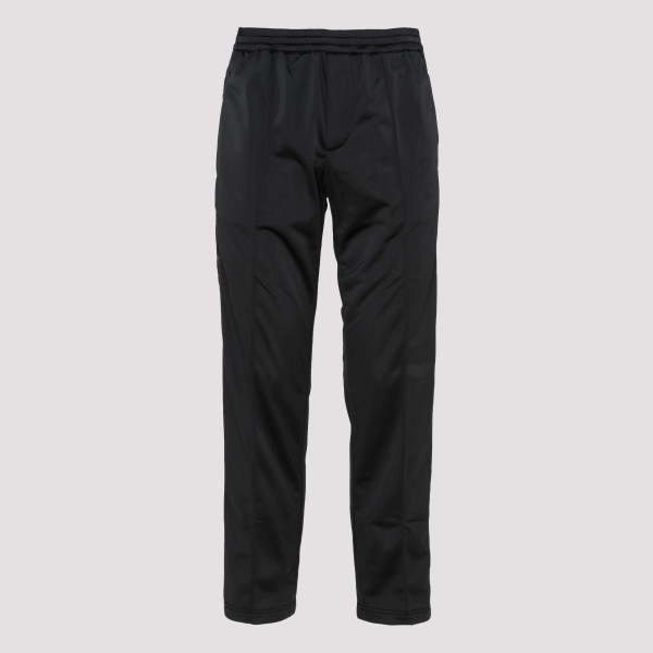 Black track pants with side...