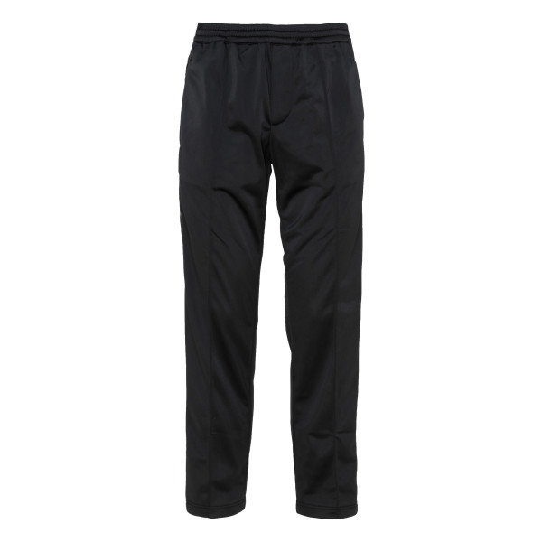 Black track pants with side band