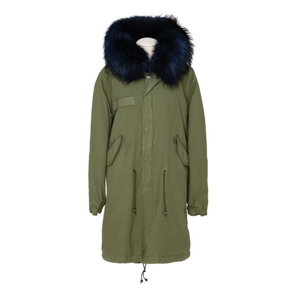 Army green fur longparka jacket