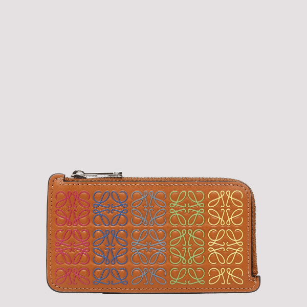 Orange zipped card-holder
