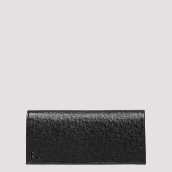 Black saffiano leather...