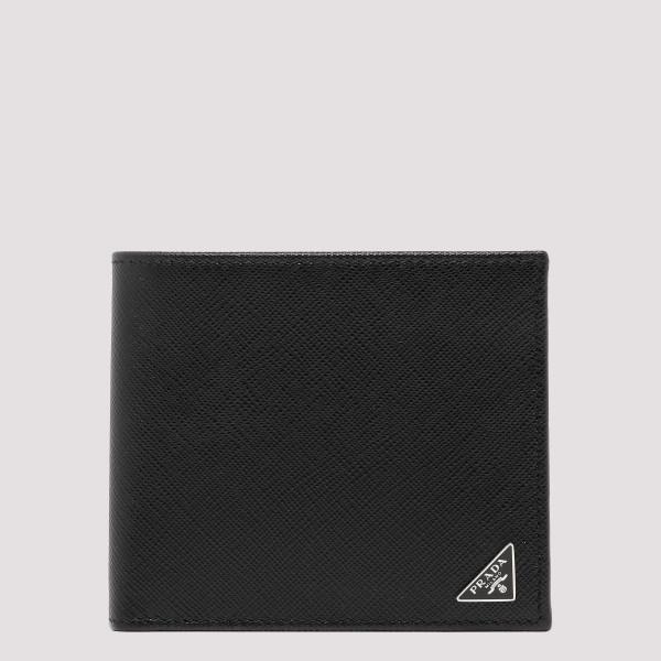 Black saffiano billfold wallet