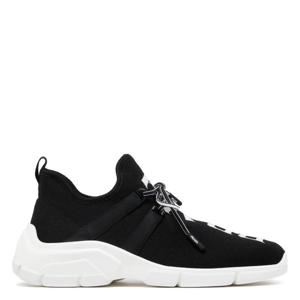 Black and white XY knit sneakers