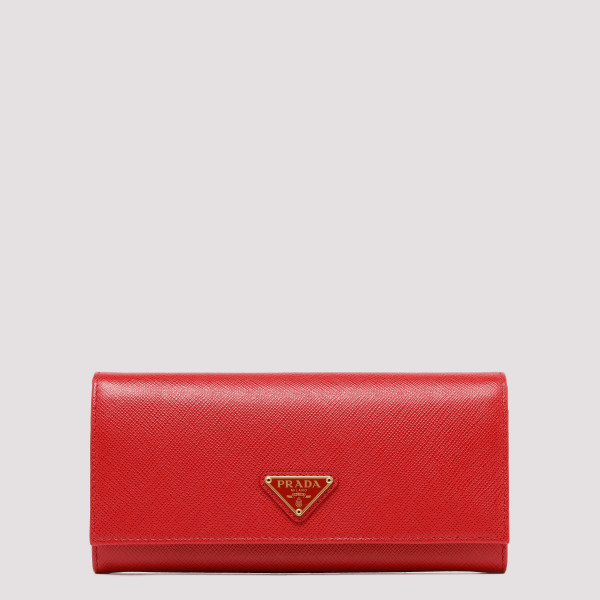 Red saffiano continental...