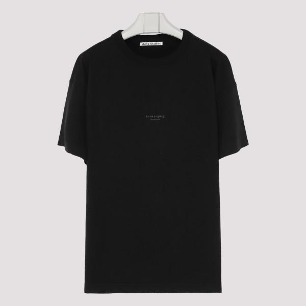Black cotton T-shirt with logo