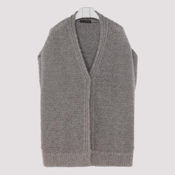 Gray mohair vest