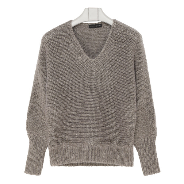 Gray mohair sweater