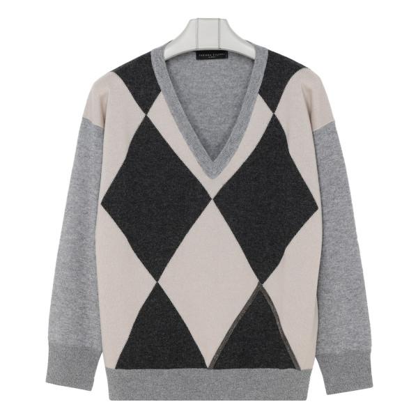 Gray rhombus sweater