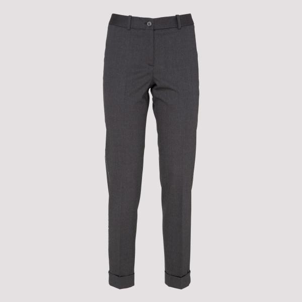 Assisi woven wool gray pants