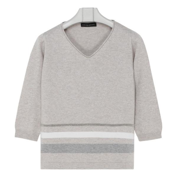 Gray wool sweater