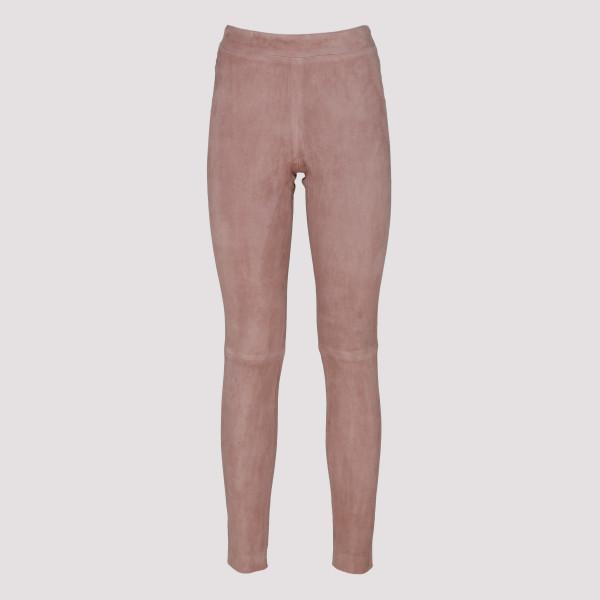 Pink suede pants