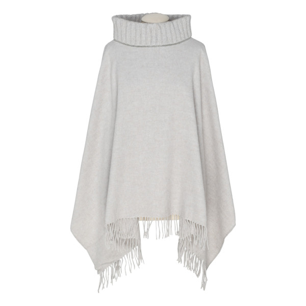 Cape fringed sweater