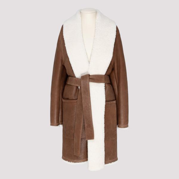 Brown Shearling Coat