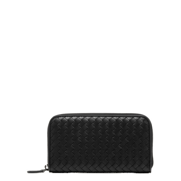 Black intrecciato wallet
