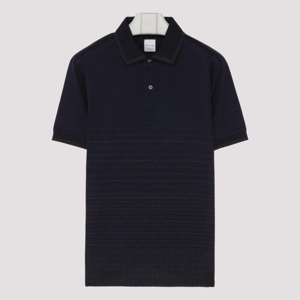 Blue short sleeved polo shirt