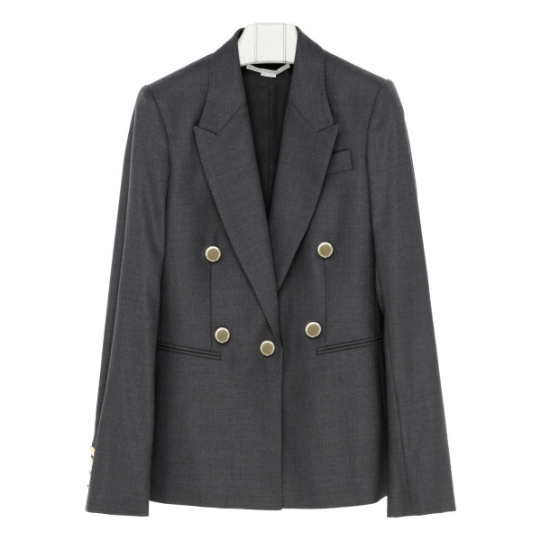 Gray wool blazer