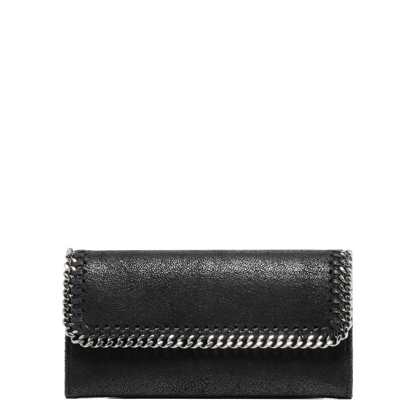 Black Falabella Shaggy Deer Flap Wallet