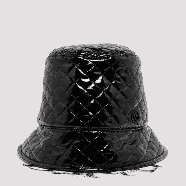 Black Souna vinyl bucket hat