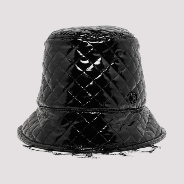 878b0c46e19cb0 Black Souna vinyl bucket hat