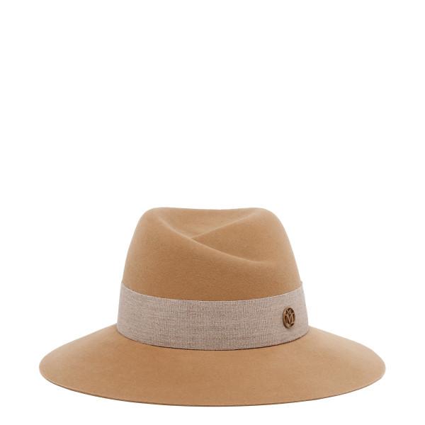 Virginie camel felt hat