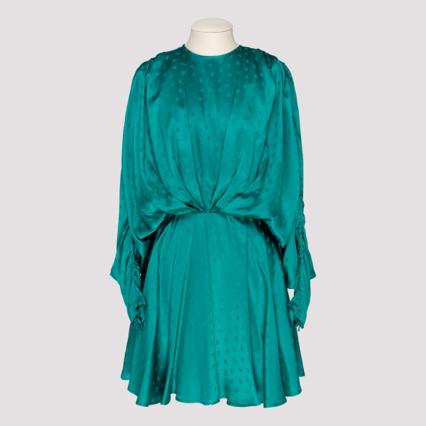 Emerald green stars dress