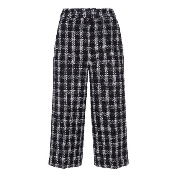 Black and white tweed pants