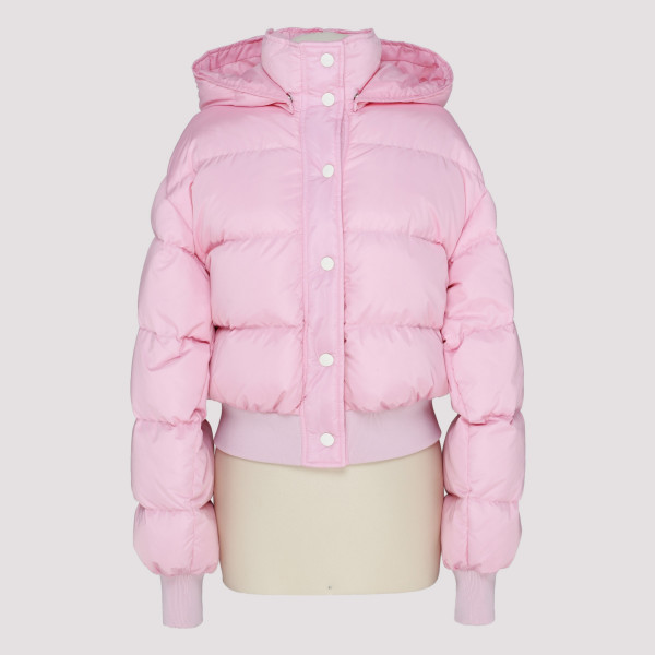 Pink cropped down jacket