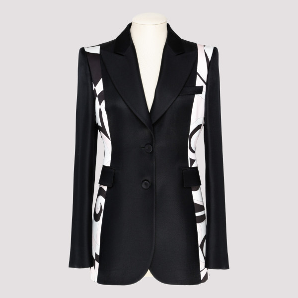 Fortuna print panelled blazer