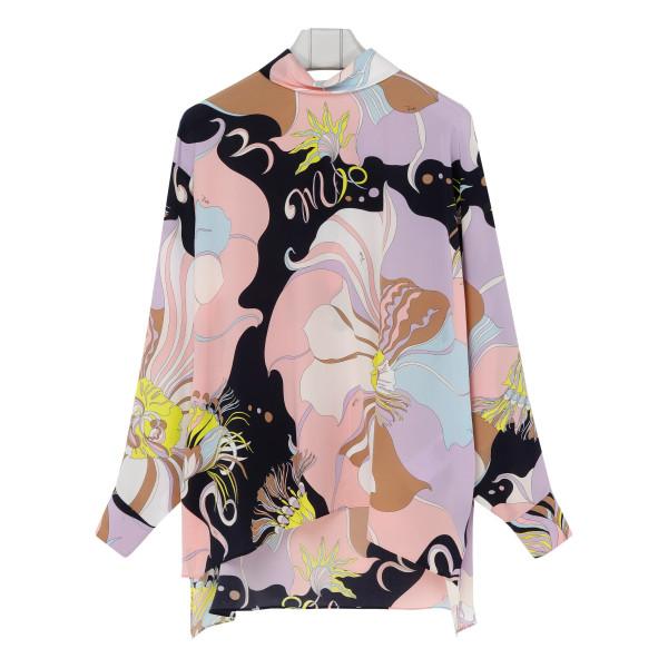 Mirabilis print silk top