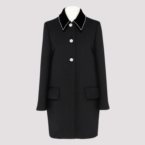 Black virgin wool coat