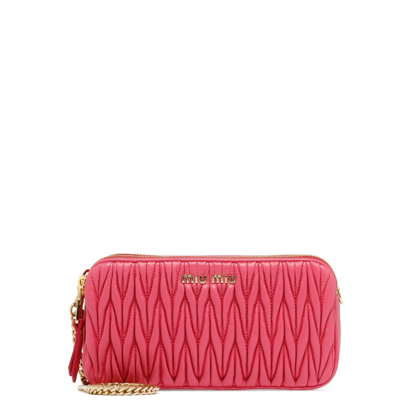 Pink matelassé mini bag