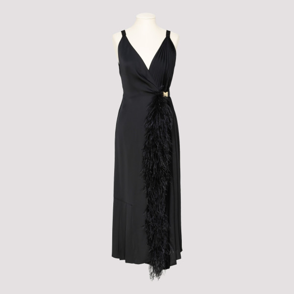 Black twill dress with...