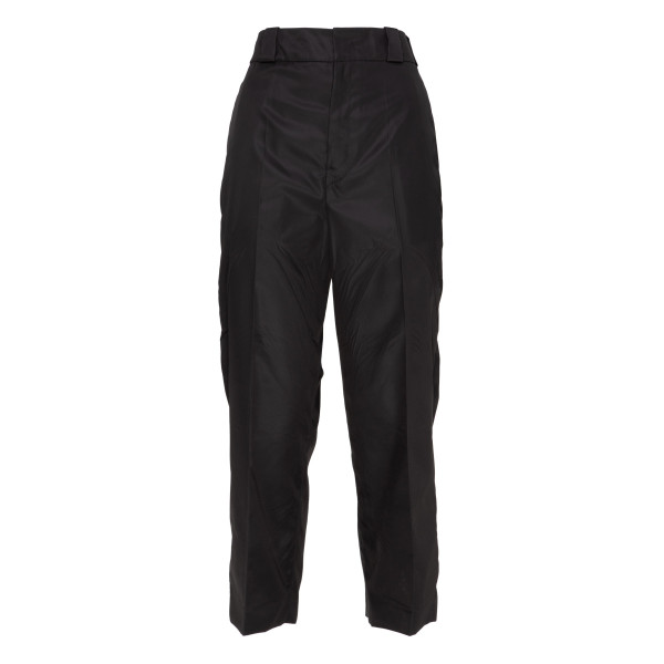 Black technical fabric pants