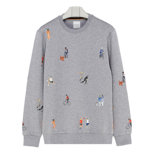 Melange gray cotton sweatshirt