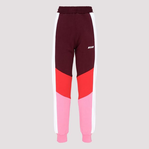 Color-block fleece jogging...