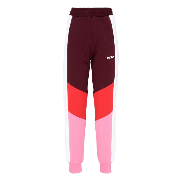 Color-block fleece jogging pants