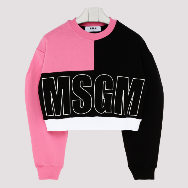 Color-block sweatshirt with...