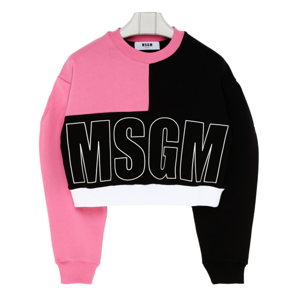 Color-block sweatshirt with logo