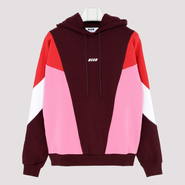 Color-block fleece sweatshirt