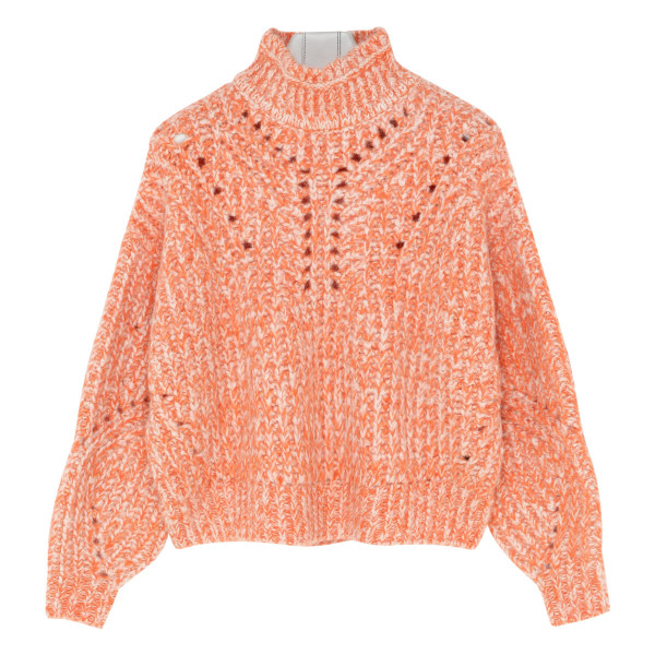 Orange Jarren Oversized Crop Sweater