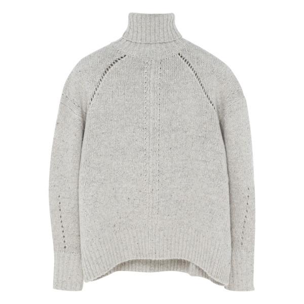 Gray Jarren Oversized Crop Sweater