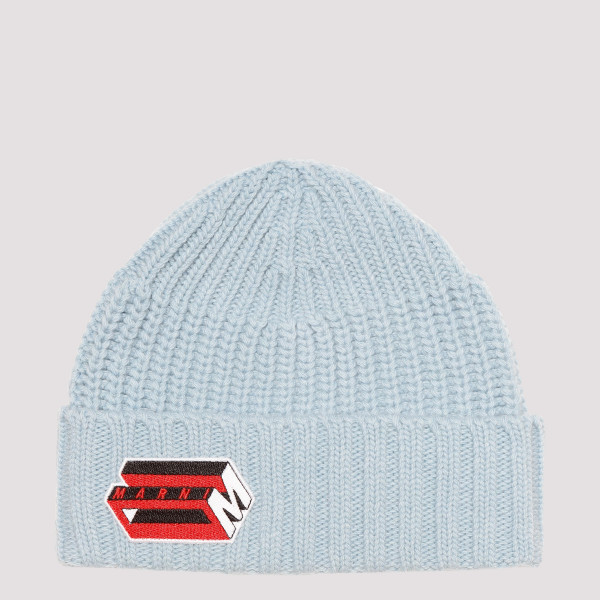 Light blue ribbed beanie