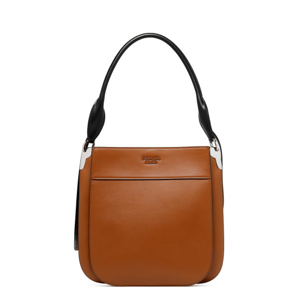 Brown leather Margit shoulder bag