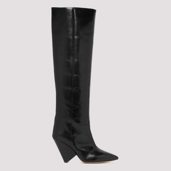 Black leather Lokyo boots