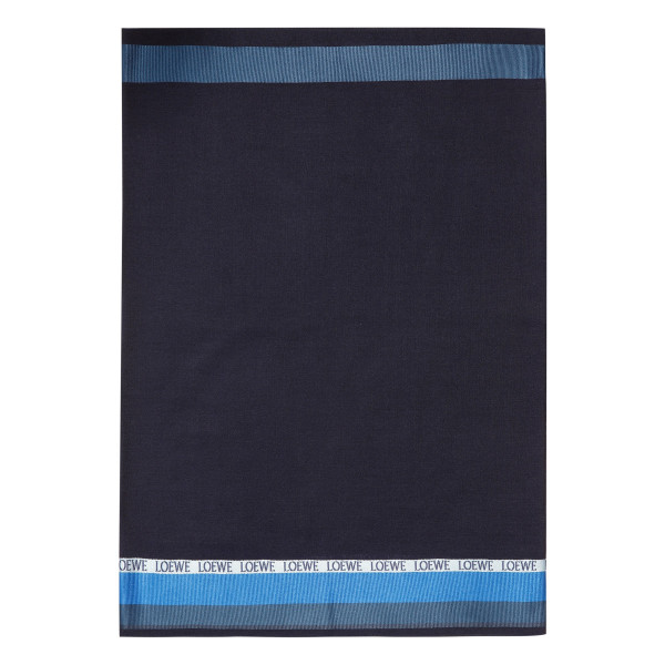 Navy logoed scarf