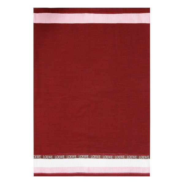 Red logoed scarf